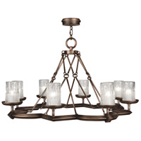 Fine Art Lamps 860340ST Liaison 8 Light 40 inch Antique Hand-Rubbed Bronze Chandelier Ceiling Light