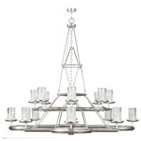 Liaison 16 Light 58 inch Platinized Silver Leaf Chandelier Ceiling Light