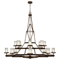 Liaison 16 Light 58 inch Antique Hand-Rubbed Bronze Chandelier Ceiling Light