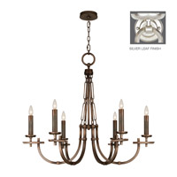 Fine Art Lamps Liaison 6 Light Chandelier in Platinized Silver Leaf 860640-2ST