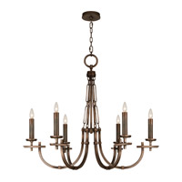 Fine Art Lamps Liaison 6 Light Chandelier in Antique Hand-Rubbed Bronze 860640ST