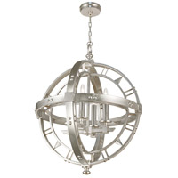 Fine Art Lamps Liaison 4 Light Pendant in Platinized Silver Leaf 861240-2ST