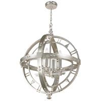 Fine Art Lamps 861240-2ST Liaison 4 Light 26 inch Silver Pendant Ceiling Light