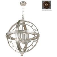 Fine Art Lamps 861240ST Liaison 4 Light 26 inch Bronze Pendant Ceiling Light