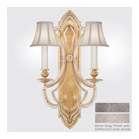 Fine Art Lamps Prussian Neoclassic 2 Light Wall Sconce in Prussian Silver Gray 861450-11ST