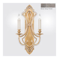Fine Art Lamps Prussian Neoclassic 2 Light Wall Sconce in Prussian Silver Gray 861450-12ST