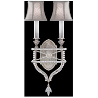 Fine Art Lamps Prussian Neoclassic 2 Light Wall Sconce in Prussian Silver Gray 861650-11ST