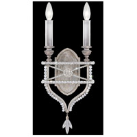 Fine Art Lamps Prussian Neoclassic 2 Light Wall Sconce in Prussian Silver Gray 861650-12ST