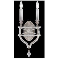 Fine Art Lamps 861650-12ST Prussian Neoclassic 2 Light 9 inch Silver Sconce Wall Light