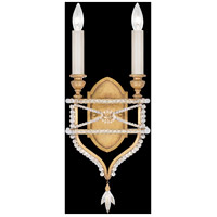 Fine Art Lamps Prussian Neoclassic 2 Light Wall Sconce in Brandenburg Gold Leaf 861650-22ST