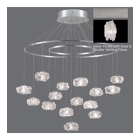 Fine Art Lamps Natural Inspirations 15 Light Pendant in Platinized Silver Leaf 862040-101ST