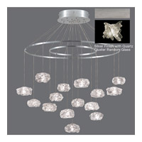 Fine Art Lamps Natural Inspirations 15 Light Pendant in Platinized Silver Leaf 862040-102ST