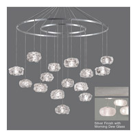 Fine Art Lamps Natural Inspirations 15 Light Drop Light in Platinized Silver Leaf 862040-12ST