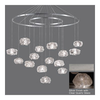 Fine Art Lamps Natural Inspirations 15 Light Drop Light in Silver Leaf 862040-13ST