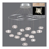 Natural Inspirations 15 Light 37 inch Gold Toned Silver Leaf Pendant Ceiling Light