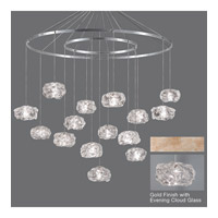 Fine Art Lamps Natural Inspirations 15 Light Drop Light in Gold-Toned Silver Leaf 862040-21ST
