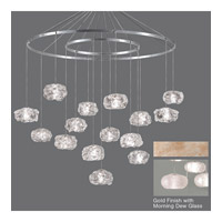 Fine Art Lamps Natural Inspirations 15 Light Drop Light in Gold-Toned Silver Leaf 862040-22ST