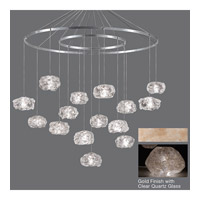 Fine Art Lamps Natural Inspirations 15 Light Drop Light in Gold-Toned Silver Leaf 862040-23ST