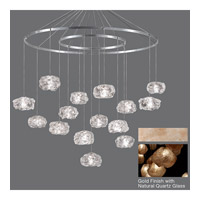 Fine Art Lamps Natural Inspirations 15 Light Drop Light in Gold-Toned Silver Leaf 862040-24ST