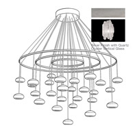 Fine Art Lamps Natural Inspirations 27 Light Pendant in Platinized Silver Leaf 862240-101ST