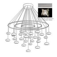 Fine Art Lamps Natural Inspirations 27 Light Pendant in Platinized Silver Leaf 862240-102ST