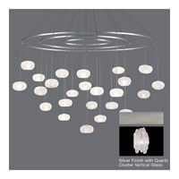 Natural Inspirations 24 Light 35 inch Platinized Silver Leaf Pendant Ceiling Light
