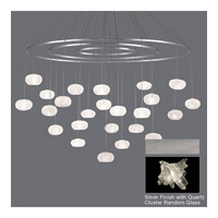 Fine Art Lamps Natural Inspirations 24 Light Pendant in Platinized Silver Leaf 862440-102ST