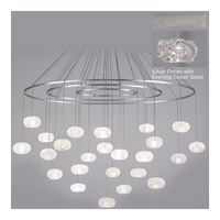 Fine Art Lamps Natural Inspirations 24 Light Drop Light in Platinized Silver Leaf 862440-11ST