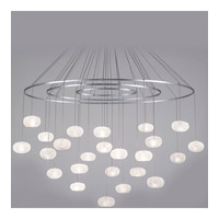 Natural Inspirations 24 Light 35 inch Platinized Silver Leaf Drop Light Ceiling Light