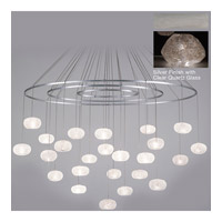 Fine Art Lamps Natural Inspirations 24 Light Drop Light in Silver Leaf 862440-13ST