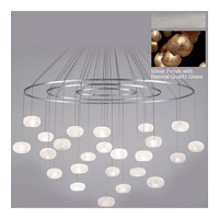 Natural Inspirations 24 Light 35 inch Silver Leaf Drop Light Ceiling Light