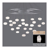 Fine Art Lamps Natural Inspirations 24 Light Pendant in Gold Toned Silver Leaf 862440-201ST