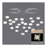 Natural Inspirations 24 Light 35 inch Gold Toned Silver Leaf Pendant Ceiling Light