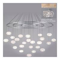 Natural Inspirations 24 Light 35 inch Gold-Toned Silver Leaf Drop Light Ceiling Light