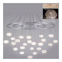 Fine Art Lamps Natural Inspirations 24 Light Drop Light in Gold-Toned Silver Leaf 862440-23ST