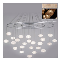 Fine Art Lamps Natural Inspirations 24 Light Drop Light in Gold-Toned Silver Leaf 862440-24ST