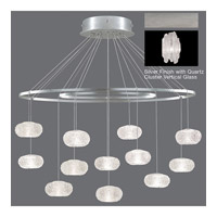 Fine Art Lamps Natural Inspirations 12 Light Pendant in Platinized Silver Leaf 862640-101ST