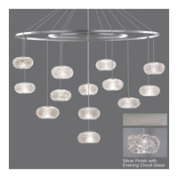 Fine Art Lamps Natural Inspirations 12 Light Drop Light in Platinized Silver Leaf 862640-11ST