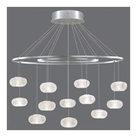 Fine Art Lamps Natural Inspirations 12 Light Drop Light in Platinized Silver Leaf 862640-12ST