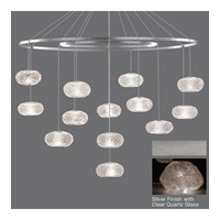 Fine Art Lamps Natural Inspirations 12 Light Drop Light in Silver Leaf 862640-13ST
