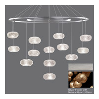 Fine Art Lamps Natural Inspirations 12 Light Drop Light in Silver Leaf 862640-14ST
