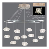 Fine Art Lamps Natural Inspirations 12 Light Pendant in Gold Toned Silver Leaf 862640-202ST
