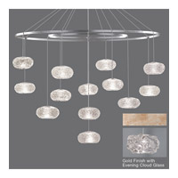 Fine Art Lamps Natural Inspirations 12 Light Drop Light in Gold-Toned Silver Leaf 862640-21ST