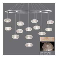 Natural Inspirations 12 Light 24 inch Gold-Toned Silver Leaf Drop Light Ceiling Light