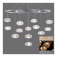 Fine Art Lamps Natural Inspirations 12 Light Drop Light in Gold-Toned Silver Leaf 862640-24ST