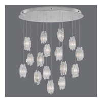 Fine Art Lamps Natural Inspirations 16 Light Pendant in Platinized Silver Leaf 862840-101ST