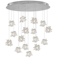 Fine Art Lamps 862840-102ST Natural Inspirations 16 Light 32 inch Platinized Silver Leaf Pendant Ceiling Light