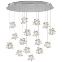 Fine Art Lamps 862840-102ST Natural Inspirations 16 Light 32 inch Silver Pendant Ceiling Light