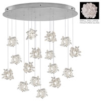 Natural Inspirations 16 Light 32 inch Silver Leaf Drop Light Ceiling Light