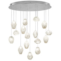 Fine Art Lamps Natural Inspirations 16 Light Drop Light in Platinized Silver Leaf 862840-11ST
